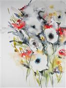 Expressionism art,Flora art,Representational art,watercolor painting,Autumn Field IV