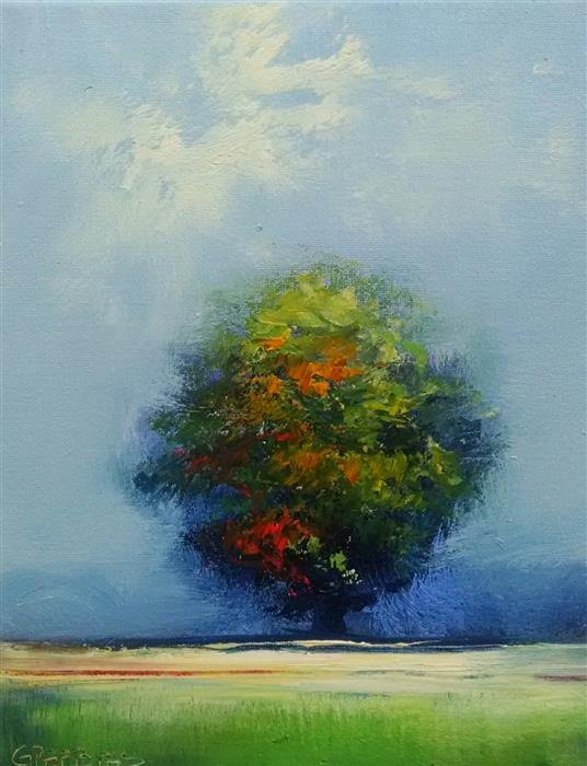 Discover Original Art by George Peebles | Tree #6 oil painting | Art for Sale Online at UGallery