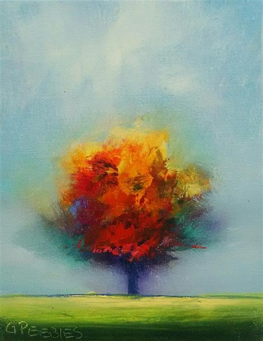 Discover Original Art by George Peebles | Tree #8 oil painting | Art for Sale Online at UGallery