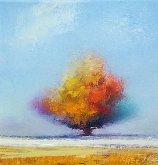 Discover Original Art by George Peebles | Tree #9 oil painting | Art for Sale Online at UGallery