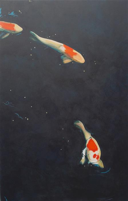 Discover Original Art by Benjamin  Thomas | Koi Universe acrylic painting | Art for Sale Online at UGallery