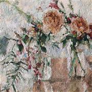 Impressionism art,Flora art,Representational art,acrylic painting,Rose Blush