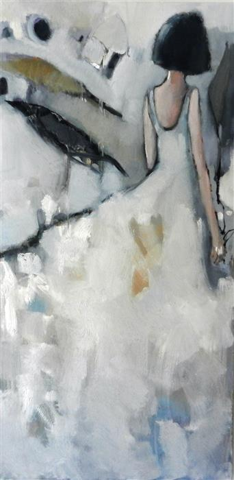 Discover Original Art by Mary Pratt | Gray Girl oil painting | Art for Sale Online at UGallery