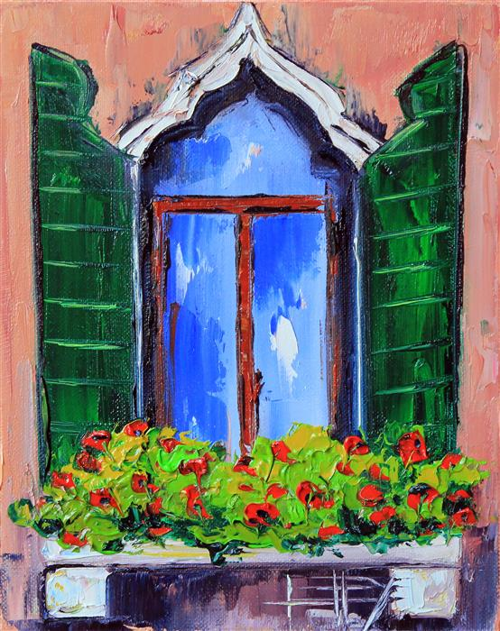 Discover Original Art by Lisa Elley | A Day in Italy oil painting | Art for Sale Online at UGallery