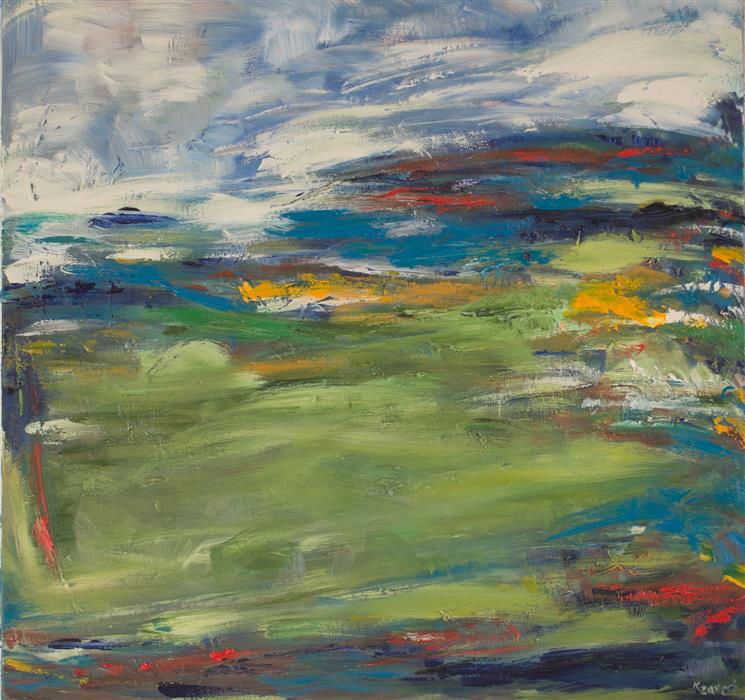 Discover Original Art by Kajal Zaveri | Fresh Outside oil painting | Art for Sale Online at UGallery