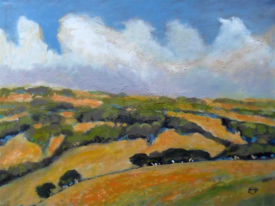 Discover Original Art by Kip Decker | California Foothills acrylic painting | Art for Sale Online at UGallery
