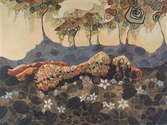 Nudes art,Representational art,Modern  art,acrylic painting,Afterglow