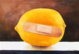 Still Life art,watercolor painting,Lemon Aid