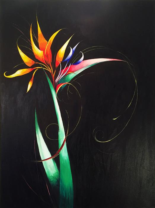 Discover Original Art by Sumner Crenshaw | Bird of Paradise Flower oil painting | Art for Sale Online at UGallery