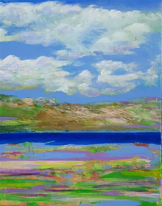 Discover Original Art by Robert Morrow | Lake Serenity acrylic painting | Art for Sale Online at UGallery