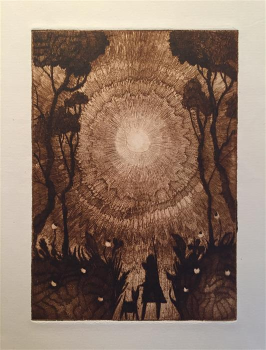 Original art for sale at UGallery.com | A Light by DOUG LAWLER | $350 | Printmaking | 10' h x 8' w | http://www.ugallery.com/printmaking-a-light