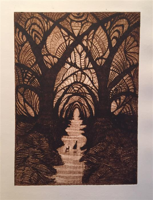 Original art for sale at UGallery.com | The Cathedral by DOUG LAWLER | $350 | Printmaking | 10' h x 8' w | http://www.ugallery.com/printmaking-the-cathedral