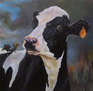 Animals art,Western art,Classical art,Realism art,Representational art,oil painting,You Lookin' at Me?