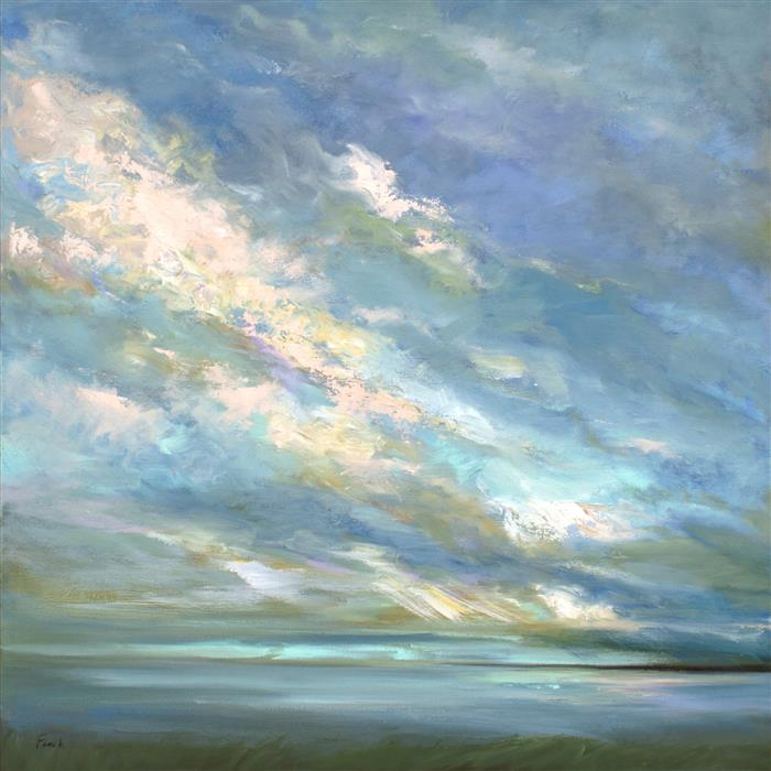 Original art for sale at UGallery.com | Coastal Sky III by SHEILA FINCH | $2,275 | Oil painting | 20' h x 20' w | http://www.ugallery.com/oil-painting-coastal-sky-iii