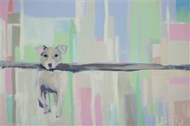 Animals art,Representational art,Modern  art,acrylic painting,Big Stick