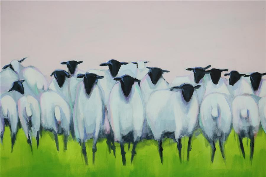 Discover Original Art by Lesli DeVito | Family Reunion acrylic painting | Art for Sale Online at UGallery