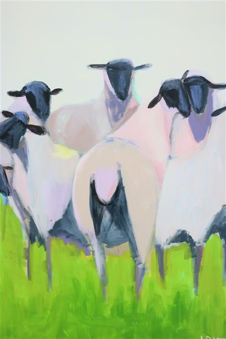 Discover Original Art by Lesli DeVito | Bridal Party acrylic painting | Art for Sale Online at UGallery