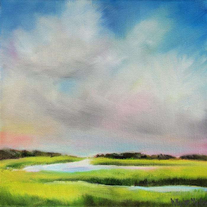 Original art for sale at UGallery.com | Marsh Colors by NANCY HUGHES MILLER | $350 | Oil painting | 8' h x 8' w | http://www.ugallery.com/oil-painting-marsh-colors