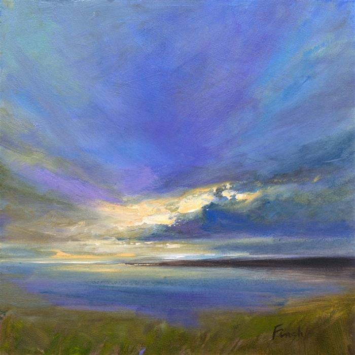 Discover Original Art by Sheila Finch | Coastal Clouds 28 oil painting | Art for Sale Online at UGallery