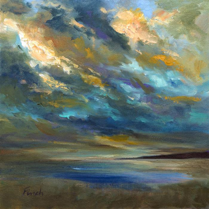 Discover Original Art by Sheila Finch | Coastal Clouds 29 oil painting | Art for Sale Online at UGallery