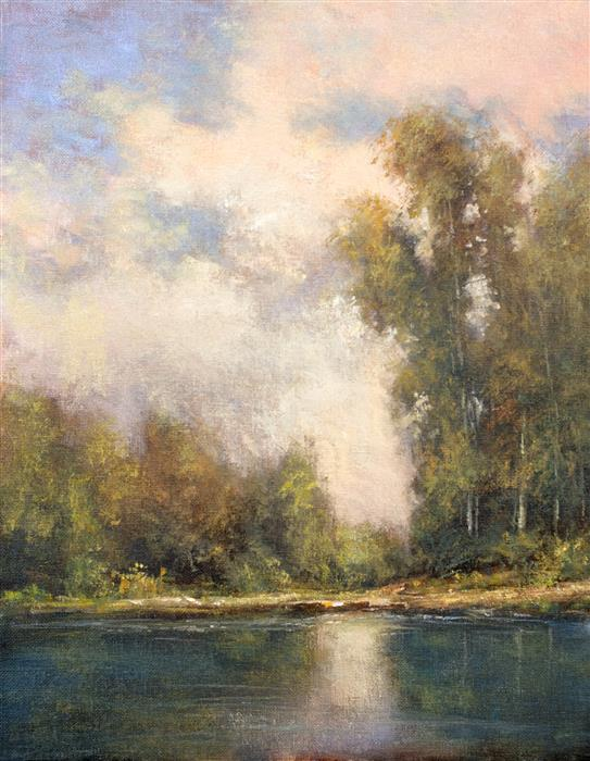 Discover Original Art by Don Bishop | Light on the Water oil painting | Art for Sale Online at UGallery