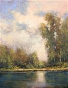 Impressionism art,Landscape art,Nature art,Classical art,Representational art,oil painting,Light on the Water