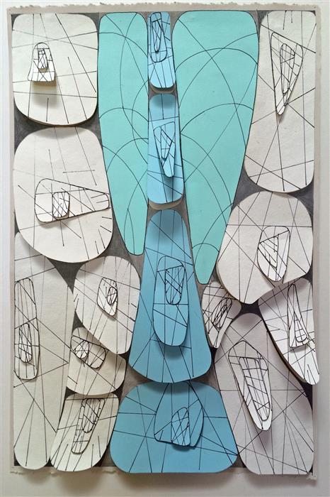 Discover Original Art by Nancy Goodman Lawrence   Solemn Celebration mixed media artwork   Art for Sale Online at UGallery