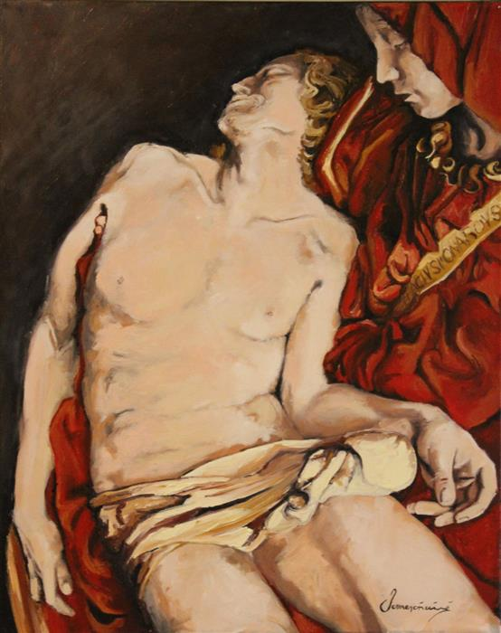Discover Original Art by Nedim Omercausevic | Michelangelo Sculpture oil painting | Art for Sale Online at UGallery