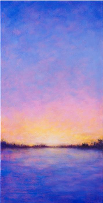 Discover Original Art by Victoria Veedell | Sunset Reflections oil painting | Art for Sale Online at UGallery
