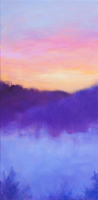Discover Original Art by Victoria Veedell | Sunrise and Fog oil painting | Art for Sale Online at UGallery