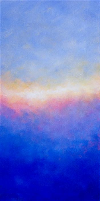 Discover Original Art by Victoria Veedell | Sunset and Fog oil painting | Art for Sale Online at UGallery