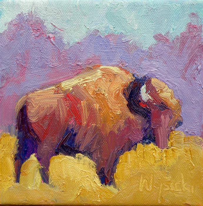 Discover Original Art by Stephen Wysocki | Buffalo Full of Color oil painting | Art for Sale Online at UGallery