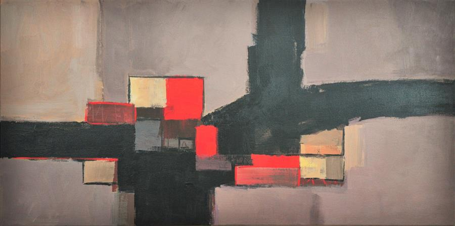 Discover Original Art by Robert Pennor | Red Stop acrylic painting | Art for Sale Online at UGallery