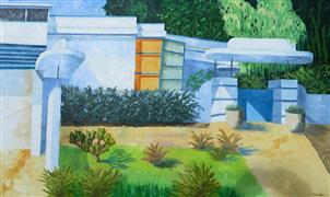 Architecture art,Representational art,Modern  art,oil painting,Martel