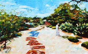 Impressionism art,Landscape art,Nature art,Representational art,acrylic painting,Zen Gardener