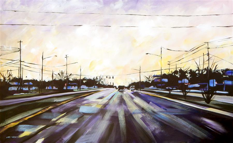 Discover Original Art by Chris Wagner | Heading East acrylic painting | Art for Sale Online at UGallery