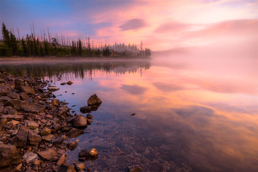 Discover Original Art by Ross Lipson | An Elk Lake Sunrise photography | Art for Sale Online at UGallery