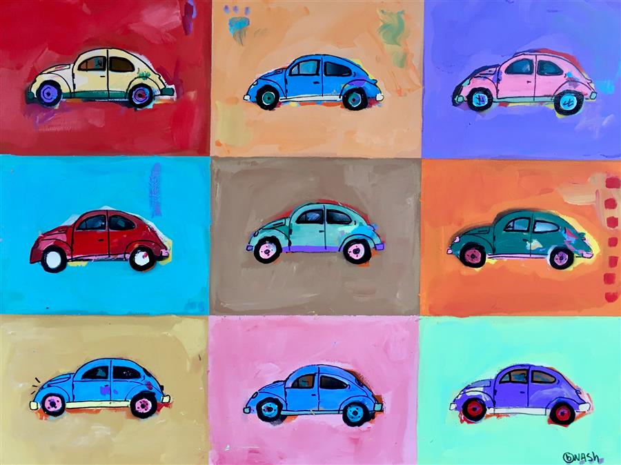 Discover Original Art by Brian Nash | Beetles acrylic painting | Art for Sale Online at UGallery
