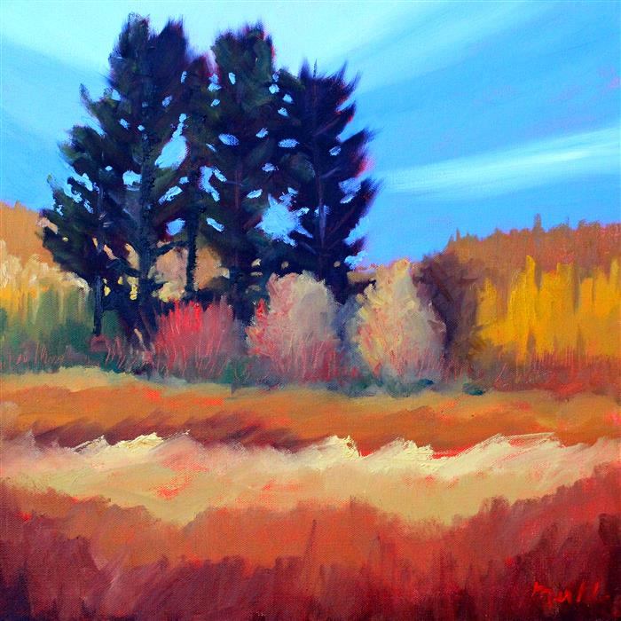 Original art for sale at UGallery.com | Fir in the Field by NANCY MERKLE | $650 | Oil painting | 18' h x 18' w | http://www.ugallery.com/oil-painting-fir-in-the-field