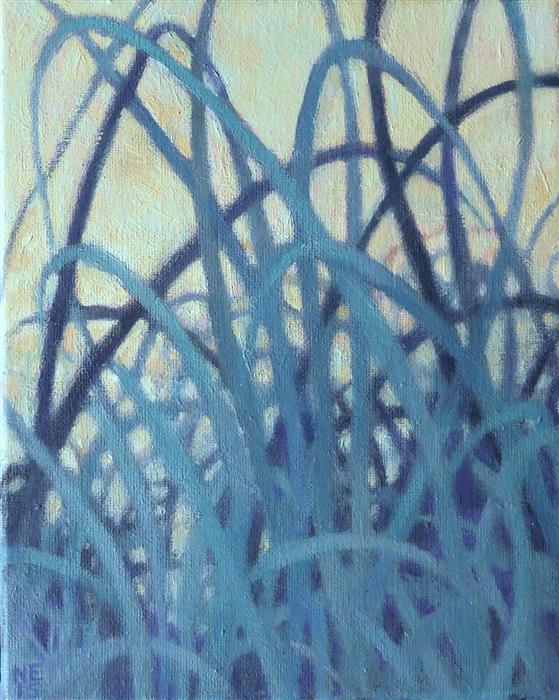 Discover Original Art by Nanci Erskine   Grasslands #13 oil painting   Art for Sale Online at UGallery