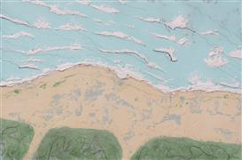 Abstract art,Seascape art,Non-representational art,mixed media artwork,South Beach Sans People