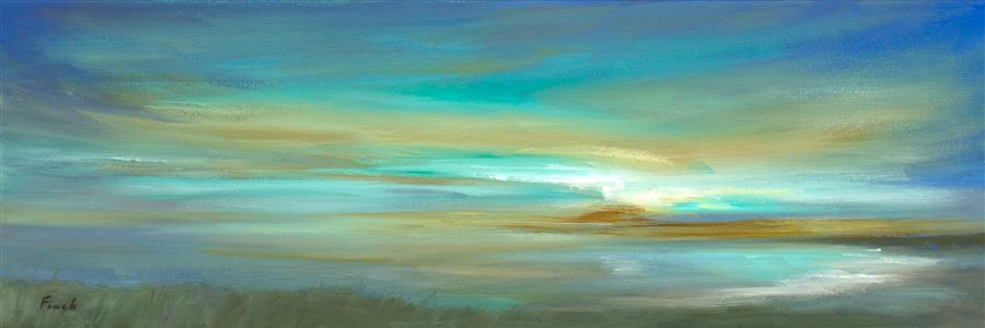 Discover Original Art by Sheila Finch | Kiss of Light #3 oil painting | Art for Sale Online at UGallery