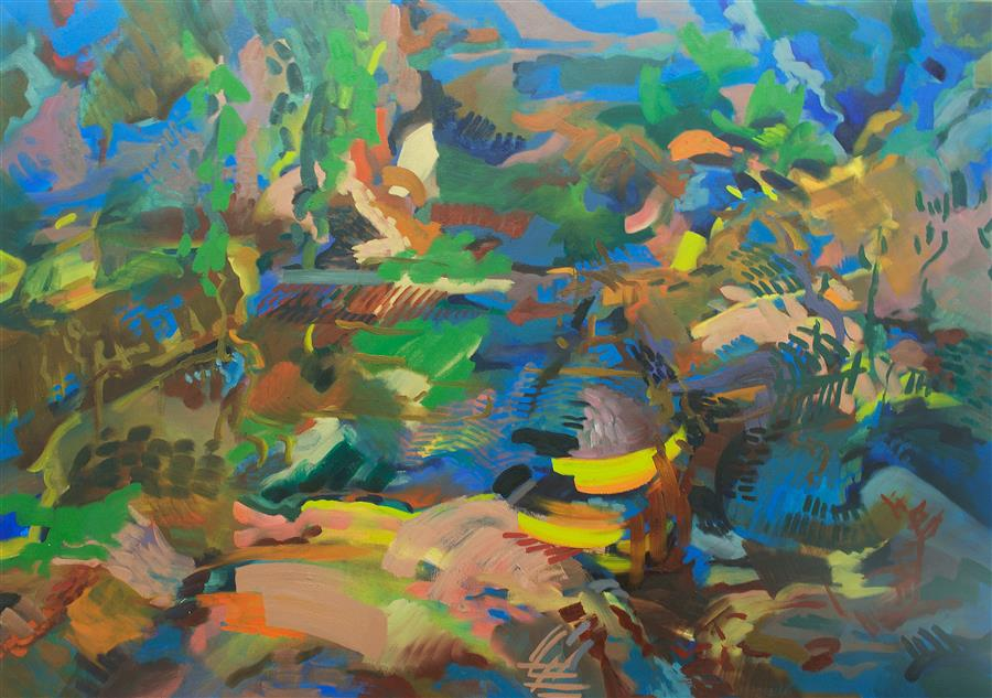 Discover Original Art by Zihan Liang | Sip oil painting | Art for Sale Online at UGallery