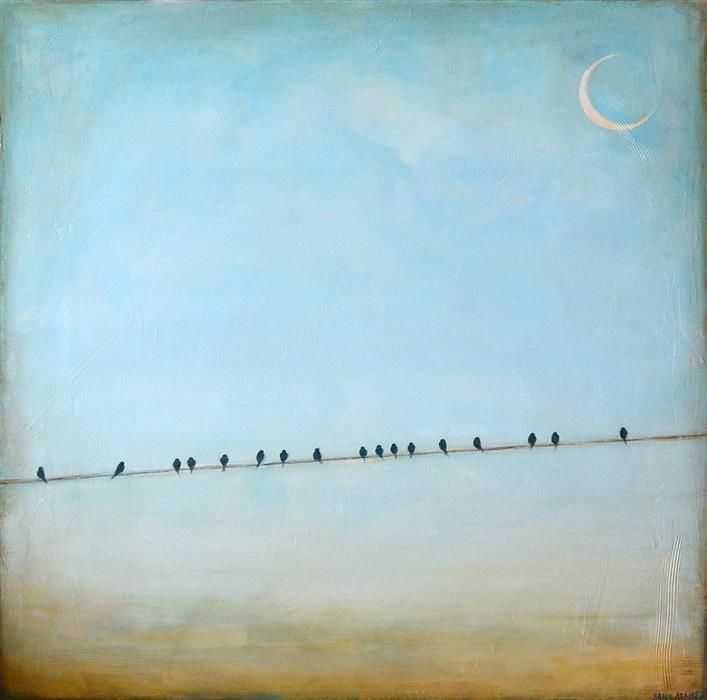Discover Original Art by Sally Adams   Peaceful acrylic painting   Art for Sale Online at UGallery