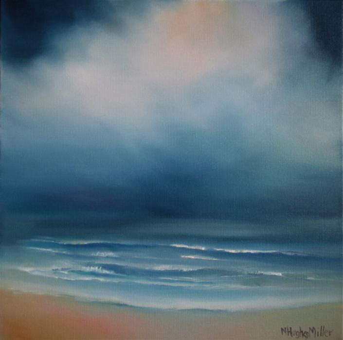Original art for sale at UGallery.com | Storm Light Beach by NANCY HUGHES MILLER | $525 | Oil painting | 12' h x 12' w | http://www.ugallery.com/oil-painting-storm-light-beach