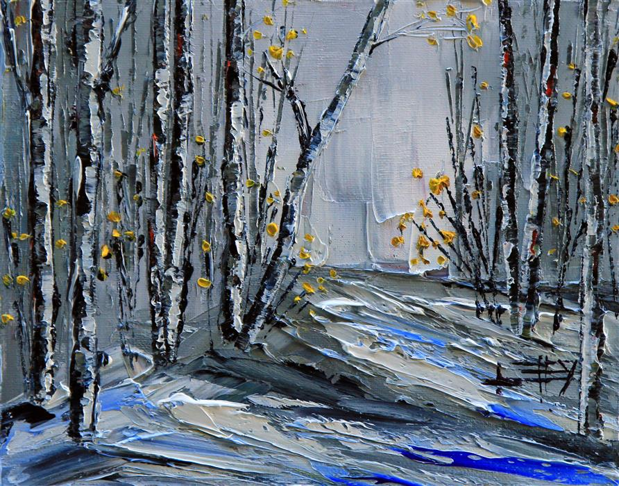 Discover Original Art by Lisa Elley | Vision of Winter oil painting | Art for Sale Online at UGallery