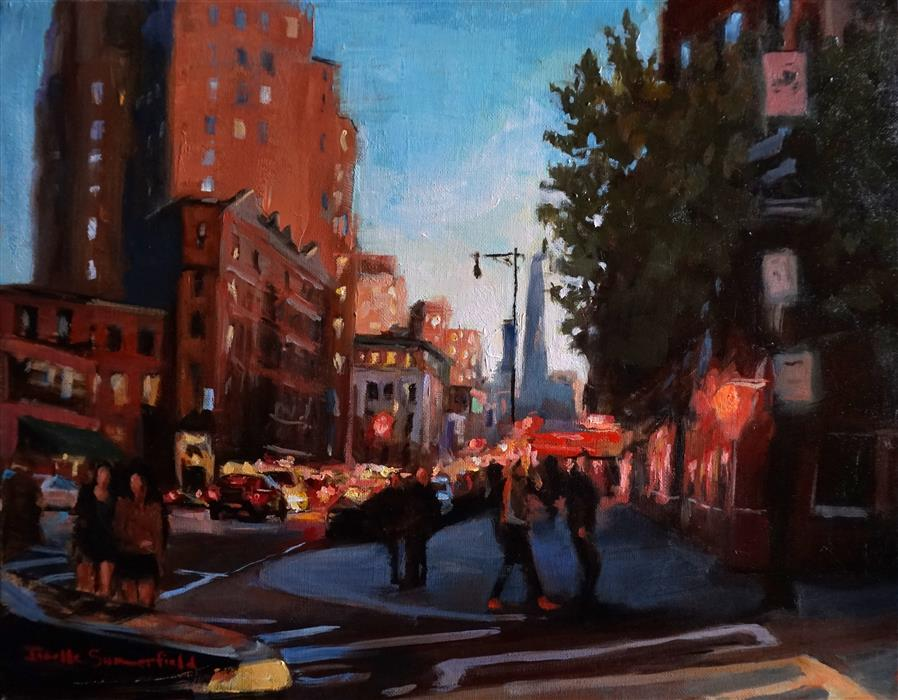 Discover Original Art by Jonelle Summerfield | Manhattan Crosswalk oil painting | Art for Sale Online at UGallery