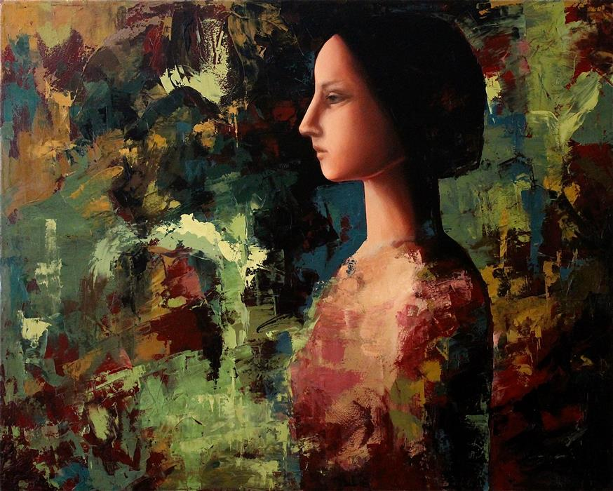 Discover Original Art by Naoko Paluszak | Henrietta oil painting | Art for Sale Online at UGallery