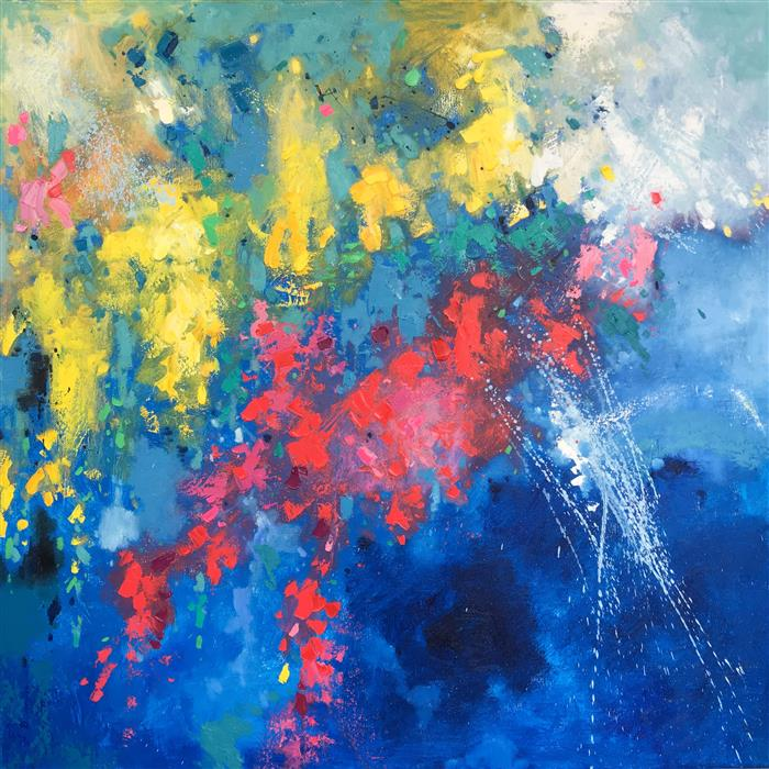 Discover Original Art by Jingshen You | Abstract 223 oil painting | Art for Sale Online at UGallery