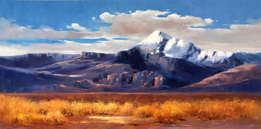 Discover Original Art by Jingshen You | Splendid Snow Mountain 202 oil painting | Art for Sale Online at UGallery